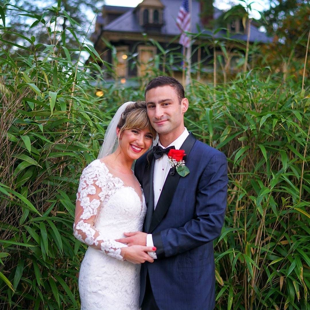 Super cute couple from this weekend at The Oakeside Mansion Frungillo Caterers